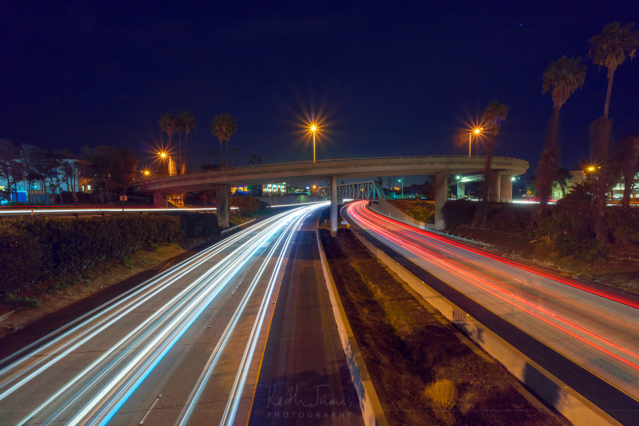 Night Photography: 101 Freeway in Ventura