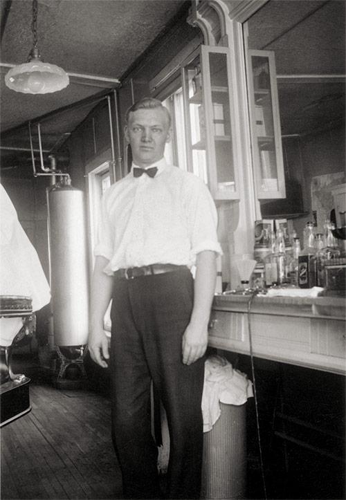 Vintage Barbershop Photo (after restoration)
