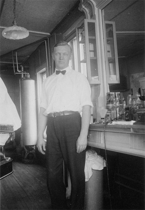 Vintage Barbershop Photo (before restoration)
