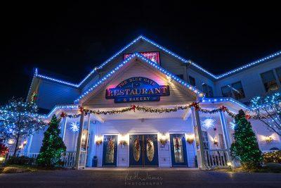 Night Photography: The Blue Gate Restaurant & Baker in Shipshewana, Indiana