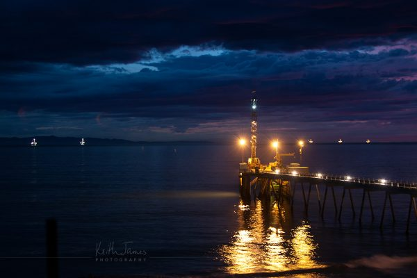 Night Photography: Oil Pier from the Carpinteria Bluffs
