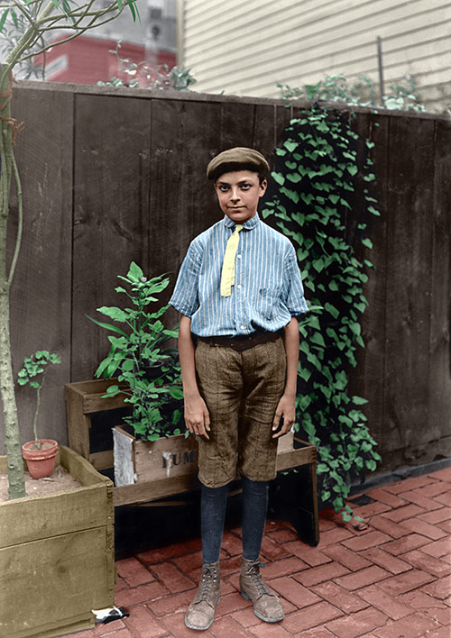 Young Boy, 1908 (before photo restoration & colorization)