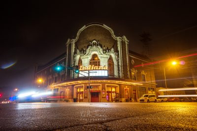 Night Photography: Indiana Theatre in Terre Haute, Indiana