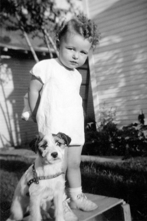 Little girl, circa 1940 (before photo restoration & colorization)