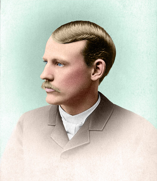 Melvin Bothwell, 1885 (after restoration & colorization)