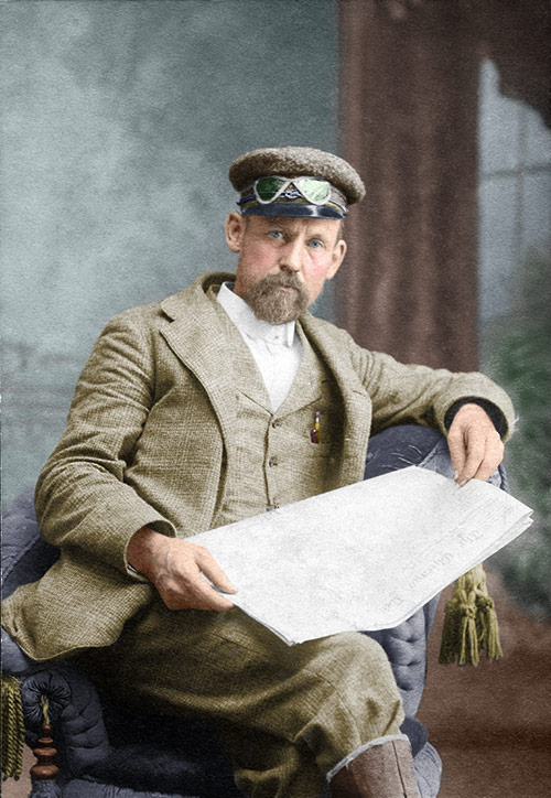 Melvin Bothwell, 1908 (colorized)