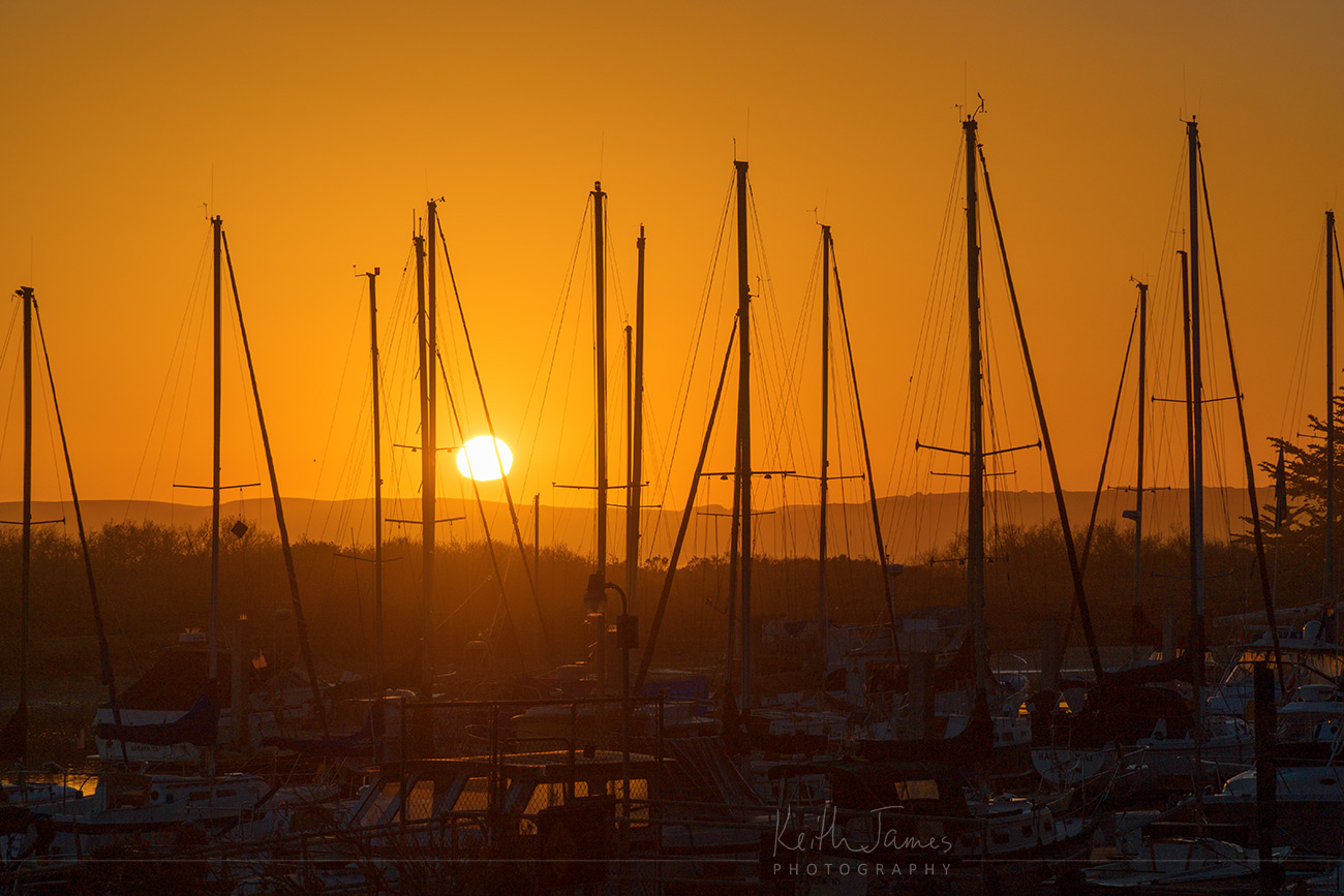 Landscape Photography: Sunset over the Harbor at Morro Bay, California