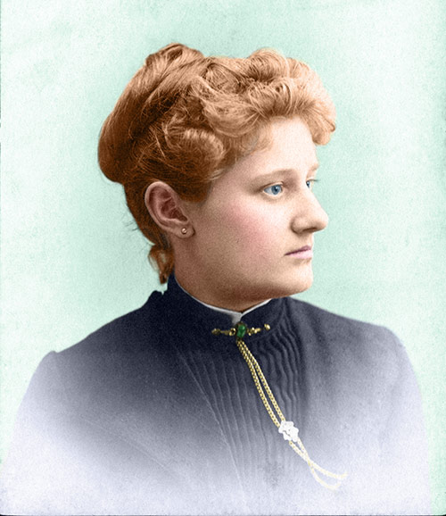 Nettie Bothwell, 1885 (after restoration & colorization)