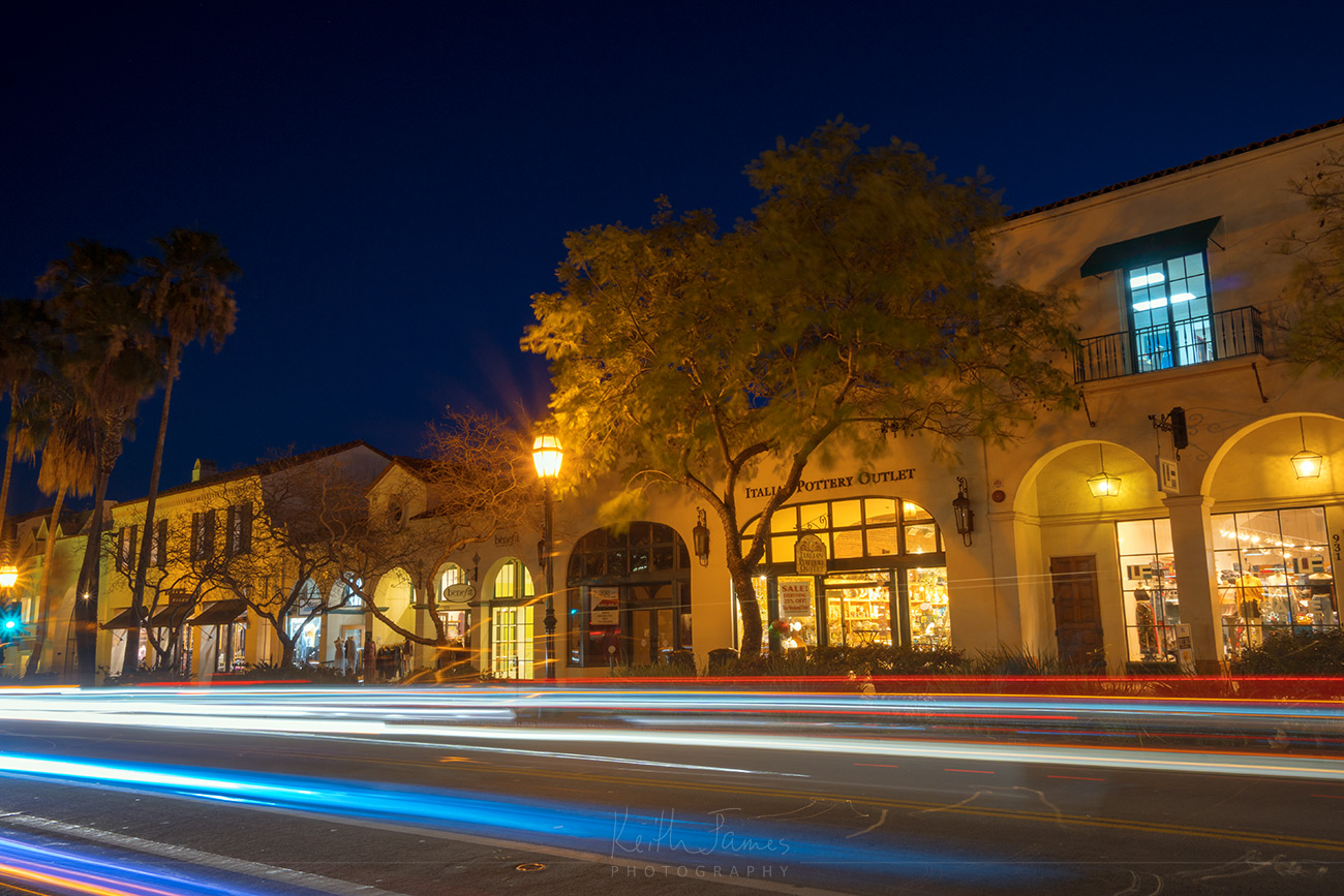 Night Photography: State Street in Santa Barbara