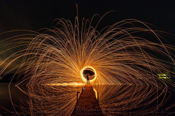 Night Photography: Spinning Steel Wool