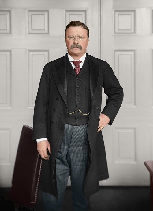 Teddy Roosevelt (restored & colorized)