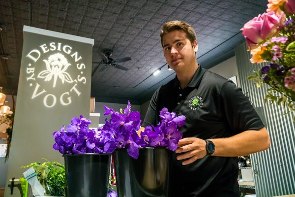 Preparing Flowers at Designs by Vogt's in Sturgis, Michigan