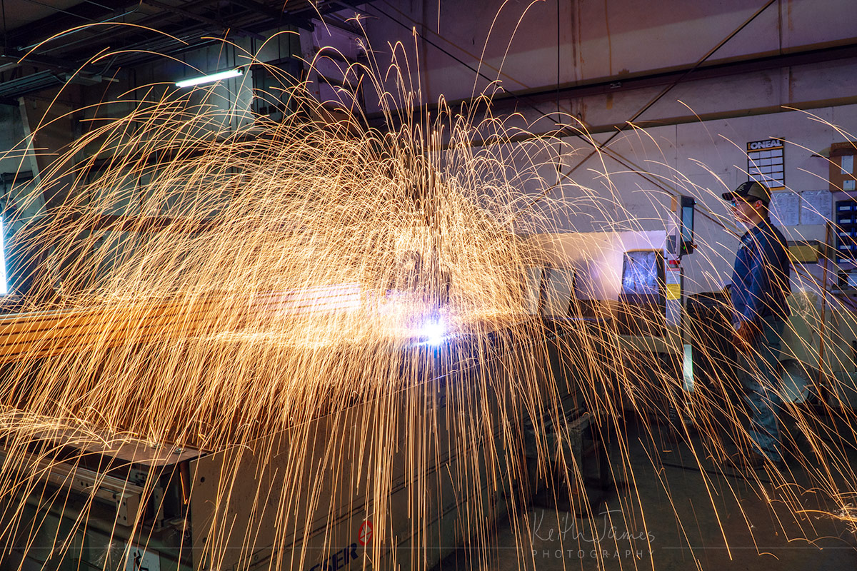Workplace photography: Plasma Arc Cutter
