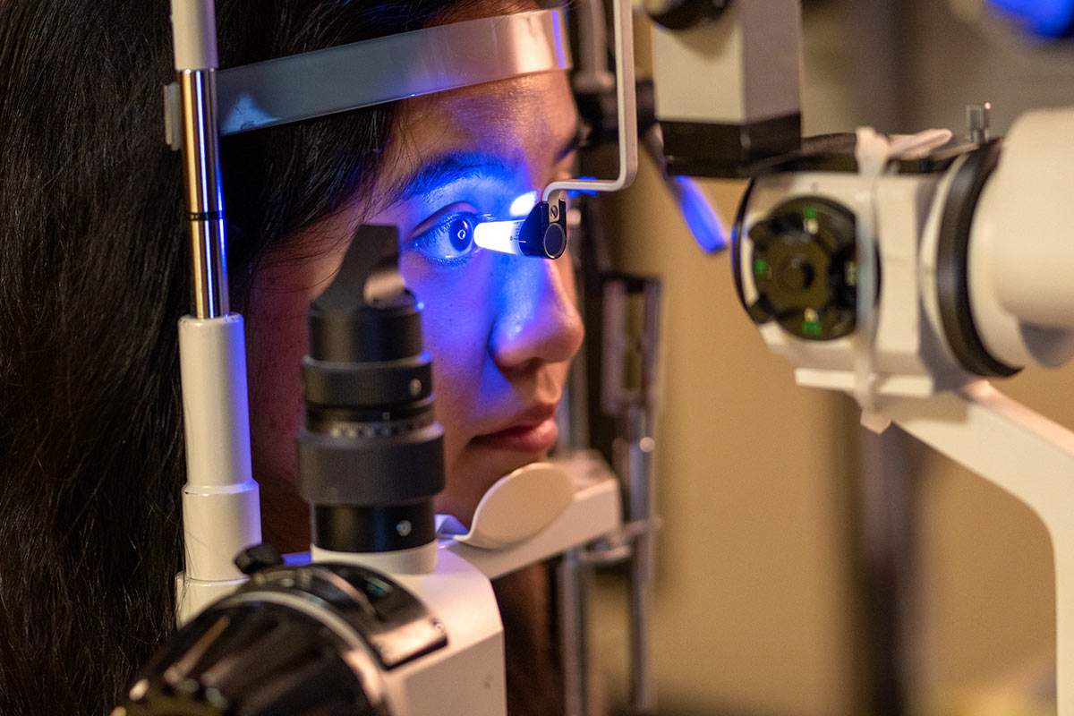 Workplace photography: Glaucoma Test